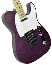 Used Fender Custom Shop Custom Deluxe Telecaster in Trans Purple R77453 - The Music Gallery