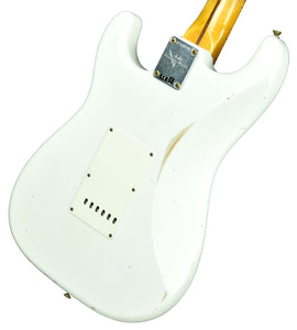 Fender Custom Shop Ancho Poblano Stratocaster Relic in Opaque White Blonde CZ544942 - The Music Gallery