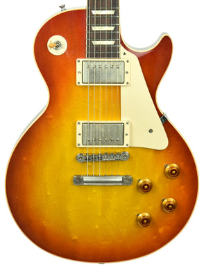 Gibson Custom 1958 Les Paul Standard Reissue in Heritage Cherry Sunburst | The Music Gallery | Front Close