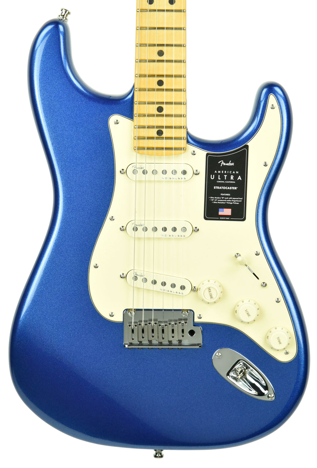 Fender American Ultra Stratocaster in Cobra Blue US19096856 - The Music Gallery