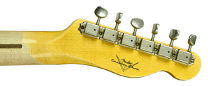 Used Fender Custom Shop 52 Telecaster Lefty Strung Righty Journeyman Relic in White Blonde R100193