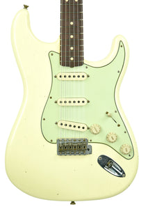 Fender Custom Shop 63 Stratocaster Journeyman Relic in Vintage White R103716 - The Music Gallery