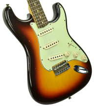 Fender Custom Shop 63 Stratocaster Journeyman Relic Chocolate Three Tone Sunburst R103720 - The Music Gallery