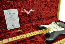 Fender Custom Shop 1956 Stratocaster Relic Masterbuilt by Carlos Lopez in Charcoal Frost Metallic CZ544493 - The Music Gallery