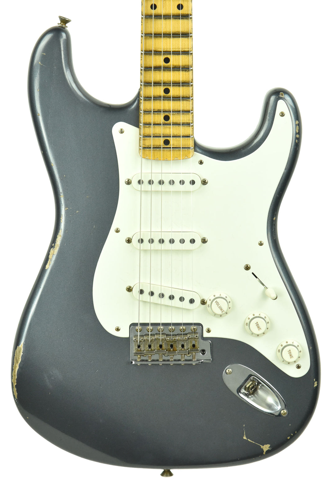 Fender Custom Shop 1956 Stratocaster Relic Masterbuilt by Carlos Lopez in Charcoal Frost Metallic CZ544493