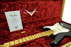Fender Custom Shop 1956 Stratocaster Relic Masterbuilt by Carlos Lopez in Black CZ544455