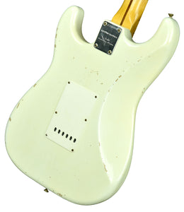 Fender Custom Shop 1956 Stratocaster Relic Masterbuilt by Carlos Lopez in Aged Olympic White CZ544468