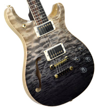 PRS Wood Library McCarty 594 Semi Hollow in Grey Black Fade  | Front Left