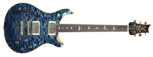 PRS Wood Library McCarty 594 Semi Hollow in River Blue | Front Full | The Music Gallery