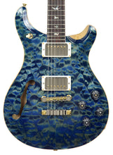 PRS Wood Library McCarty 594 Semi Hollow in River Blue | Front | THE MUSIC GALLERY