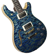 PRS Wood Library McCarty 594 Semi Hollow in River Blue | Front Left | The Music Gallery