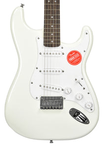 Squier Hard Tail Bullet Stratocaster Electric Guitar in Arctic White ICS18165804