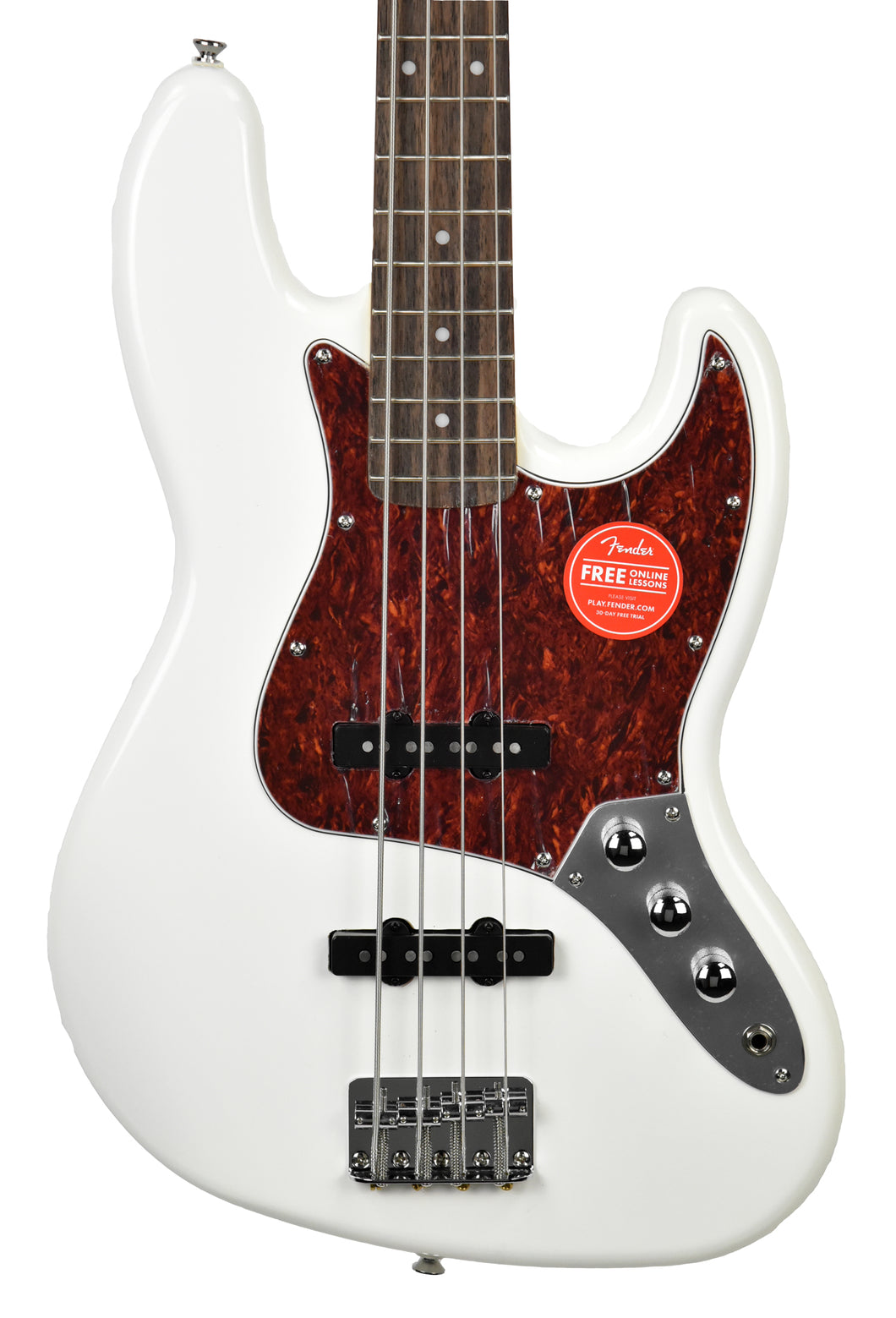Squier® Vintage Modified Jazz Bass Olympic White | Front