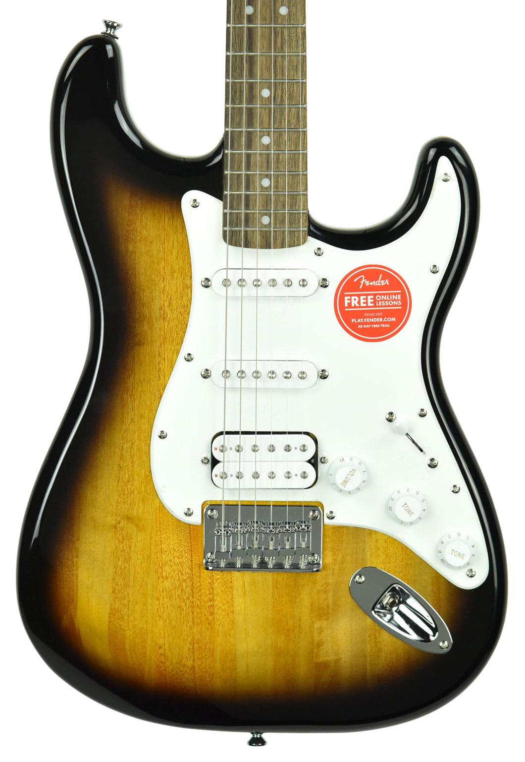 Squier® Bullet Stratocaster Hardtail HSS in Brown Sunburst ICS18131499 - The Music Gallery