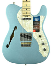 Fender American Elite Telecaster Thinline in Mystic Ice Blue US19046279 - The Music Gallery