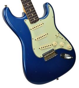 Fender Custom Shop 1963 Journeyman Stratocaster in Aqua Marine Metallic | Front Left