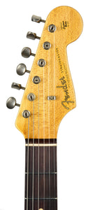 Fender Custom Shop 1963 Journeyman Stratocaster in Aqua Marine Metallic | Headstock Front