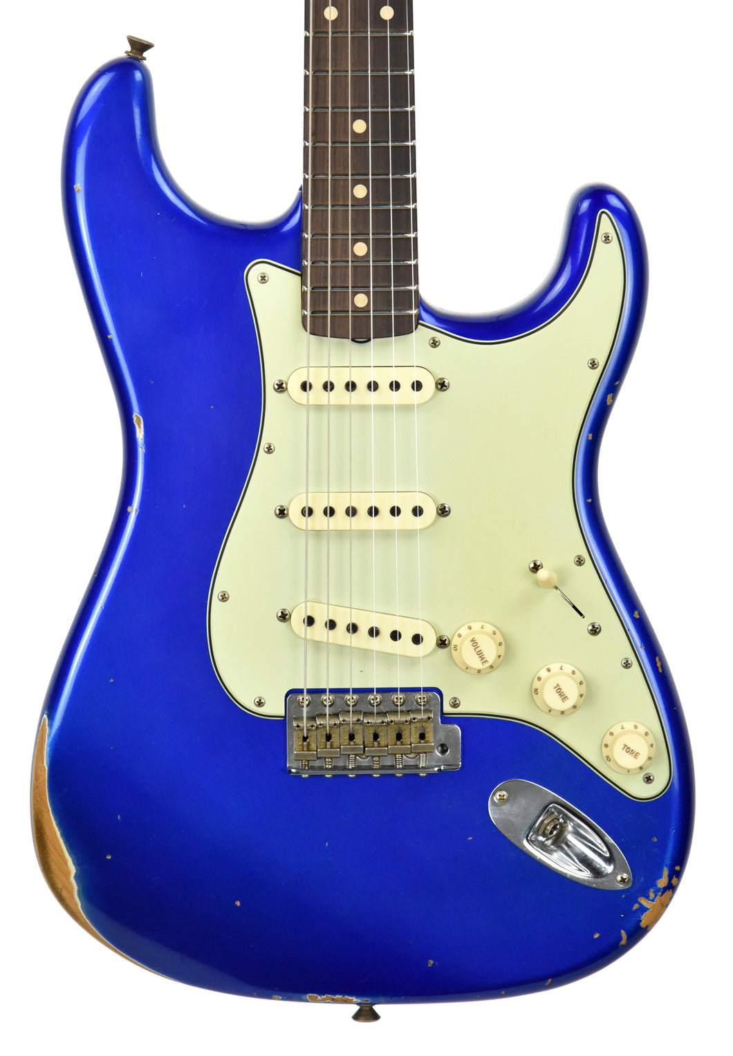 Fender Custom Shop 1961 Stratocaster Relic Cobalt Blue Metallic CZ537704 - The Music Gallery