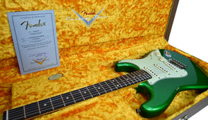 Fender Custom Shop 1961 Stratocaster Relic in Candy Apple Green | Certificate | The Music Gallery