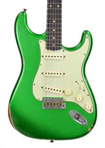 Fender Custom Shop 1961 Stratocaster Relic in Candy Apple Green | Front Close | The Music Gallery