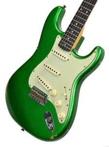 Fender Custom Shop 1961 Stratocaster Relic in Candy Apple Green | Front Right | The Music Gallery