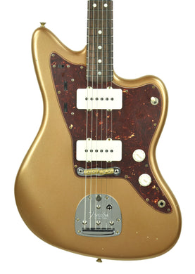 Fender Custom Shop LTD 65 Jazzmaster Journeyman Relic in Aged Firemist Gold CZ543806 - The Music Gallery