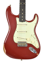 Fender Custom Shop 1961 Strat Relic in Cimarron Red | front close | the music gallery