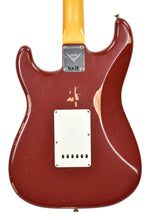 Fender Custom Shop 1961 Strat Relic in Cimarron Red | back close | the music gallery