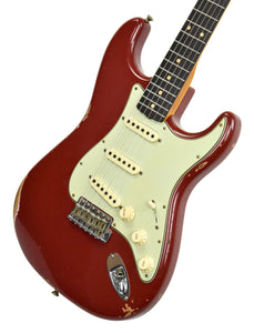 Fender Custom Shop 1961 Strat Relic in Cimarron Red | front angle 2 | the music gallery