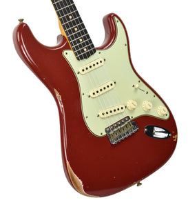 Fender Custom Shop 1961 Strat Relic in Cimarron Red | front angle 1 | the music gallery