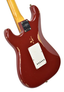 Fender Custom Shop 1961 Strat Relic in Cimarron Red | back angle 1 | the music gallery