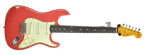 Fender Custom Shop Stratocaster 1961 Relic in Fiesta Red front far
