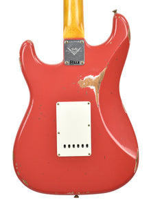 Fender Custom Shop Stratocaster 1961 Relic in Fiesta Red back close