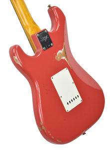 Fender Custom Shop Stratocaster 1961 Relic in Fiesta Red back angle 1