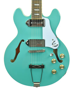 Epiphone Casino Coupe Archtop Electric Guitar in Turquoise 19101525494 - The Music Gallery