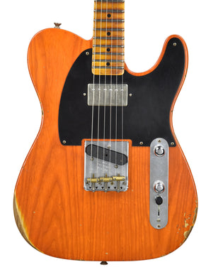 Fender Custom Shop Telecaster Relic Sunset Orange Transparent front close