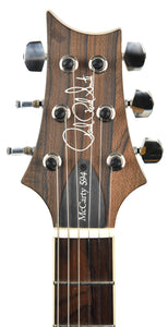 Used PRS Wood Library McCarty 594 in Blood Tiger 17241918 headstock front