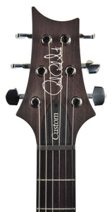 PRS Custom 24 in Charcoal Wrap Smoke Burst 18264541 headstock front