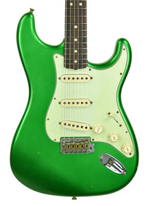 Fender Custom Shop 63 Stratocaster Journeyman Relic in Candy Green R104220 - The Music Gallery