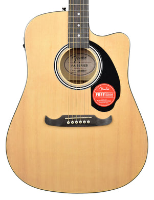 Fender FA-125CE Dreadnought Acoustic Guitar in Natural CFFE1806853 Front Close