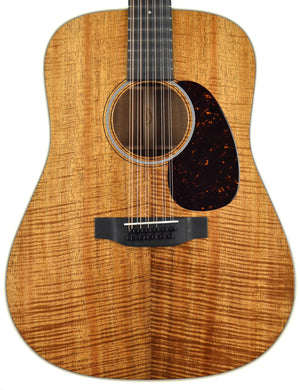 Martin Custom Shop D-18 12 String Acoustic Koa front close
