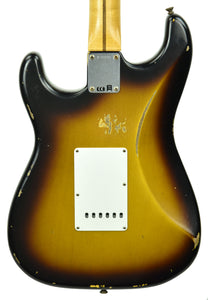Fender Custom Shop 1957 Stratocaster Relic in Two Tone Sunburst R104037 - The Music Gallery