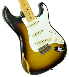 Fender Custom Shop 1957 Stratocaster Relic in Two Tone Sunburst R104037