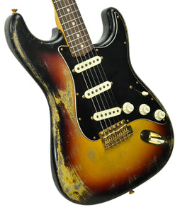 Fender Custom Shop 63 Stratocaster Relic Masterbuilt by Greg Fessler 3 Tone Sunburst R100013 - The Music Gallery