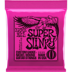 Ernie Ball Super Slinky .009-.042 2223  Nickel Wound Electric Strings - The Music Gallery