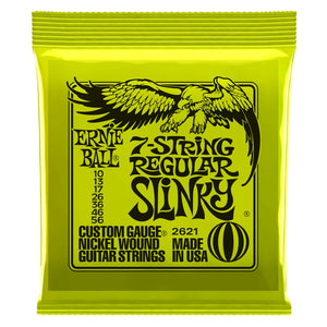 Ernie Ball 7-String Regular Slinky .010-.056 2621 Nickel Wound Electric Strings | The  Music Gallery