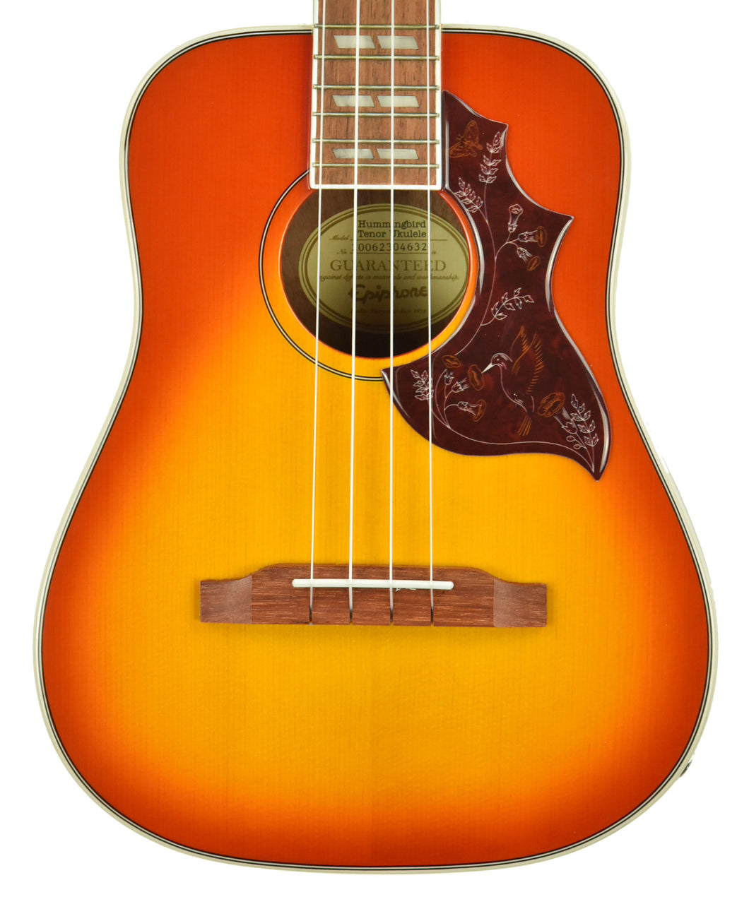 Epiphone Hummingbird Tenor Electric Ukulele Faded Cherry Sunburst 20062304632