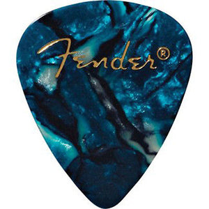 Fender® 351 Shape Premium Celluloid Picks - Thin Ocean Turquoise 12-pack