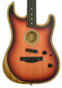 Fender American Acoustasonic Stratocaster in Three Tone Sunburst US201076 - The Music Gallery