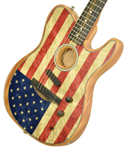 Fender American Acoustasonic Telecaster American Flag Print US207902A - The Music Gallery